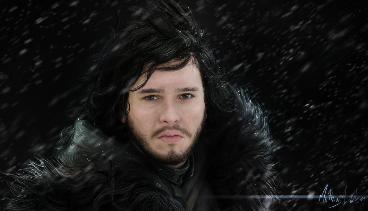 Jon Snow – Painting by Mathias Olsen